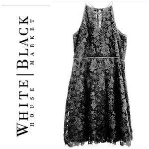 White House Black Market Black Floral Lace…